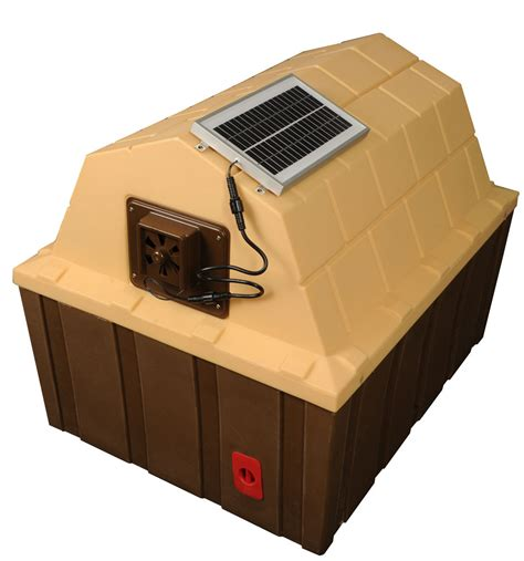 solar panel dog house doghouse exhaust fans insulated doghouses by asl solutions inc