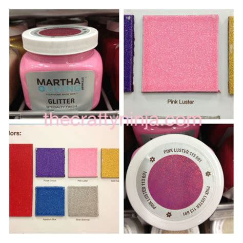 martha stewart glitter paint the crafty