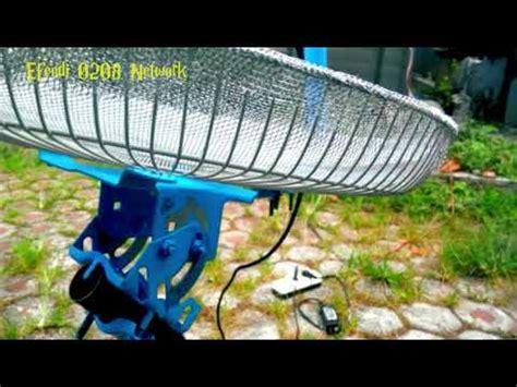 cara membuat antena tv satelit tutorial cara bikin antena tv satelit dari tutup kipas