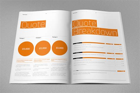 design agency proposal pdf agency proposal template on behance