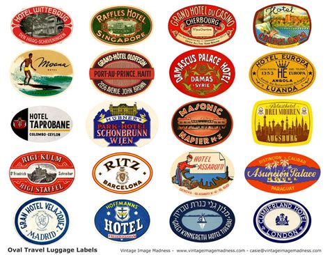 Koffer Mit Sticker by Travel Luggage Stickers Vintage Travel Images Instant