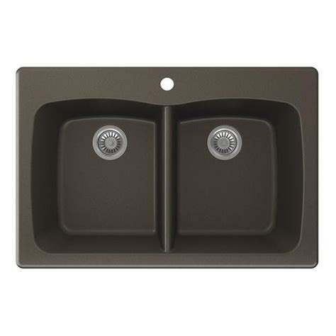 kitchen sinks at menards swan granite 33 quot w x 22 quot d even bowl kitchen sink at menards 174