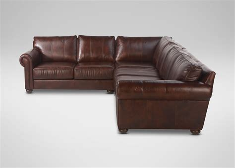 sectional couches leather richmond leather sectional sectionals