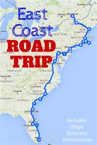 map of eastern united states coast the best east coast road trip itinerary