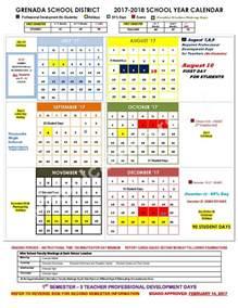 Grenada Calendã 2018 Grenada School District Calendars Grenada Ms