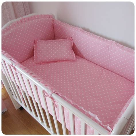 Cheap Cot Bed Bedding Sets with Discount 6pcs Cotton Baby Bedding Sets Baby Cot Bed Bumper Set For Newborn Cot Set Include
