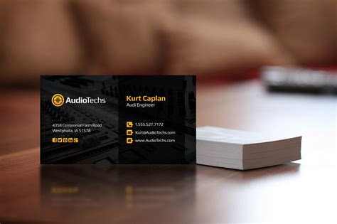 Audio Engineer Business Card Template by Audio Engineer Business Cards Logo Business Card