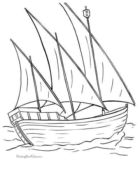 columbus ships coloring pages coloring home