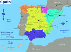 regional map spain regional governmen