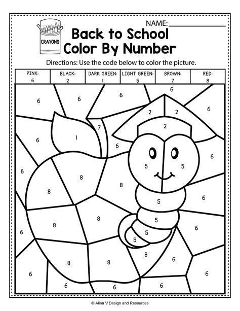 color by number math back to school color by number math worksheets and
