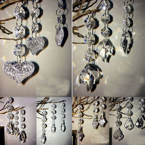 10/30pcs Clear Acrylic Crystal Beads Garland Chandelier