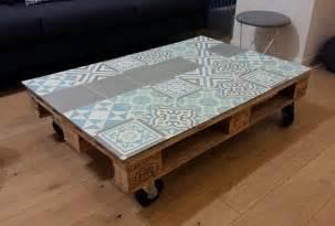 cr 233 er une table basse en carreaux de ciment l appart by