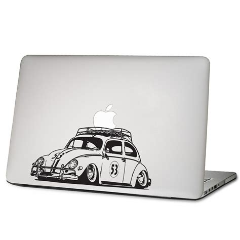 Vw Beetle Herbie Aufkleber herbie vw k 228 fer beatle auto laptop macbook sticker aufkleber