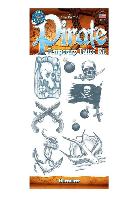 where can i buy henna tattoo kits pirate buccaneer temporary kit