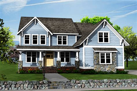 Craftsman House Plans Two Story by Two Story Craftsman House Plan With Optional Bonus Room