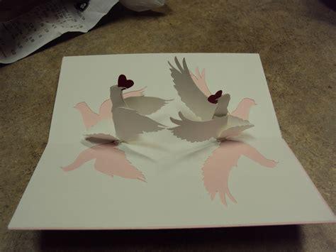 pop up bird card template birds pop up wedding card inside inspired by www
