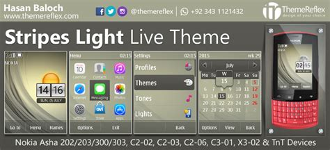 themes nokia asha 202 stripes light live theme for nokia asha 202 asha 203