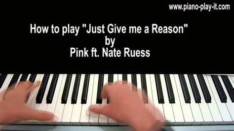 tutorial piano just give me a reason just give me a reason piano tutorial pink ft nate ruess