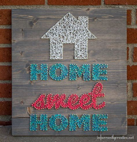 art home home sweet home string art infarrantly creative