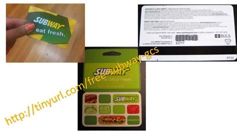Subway Gift Cards Free - free subway gift cards youtube