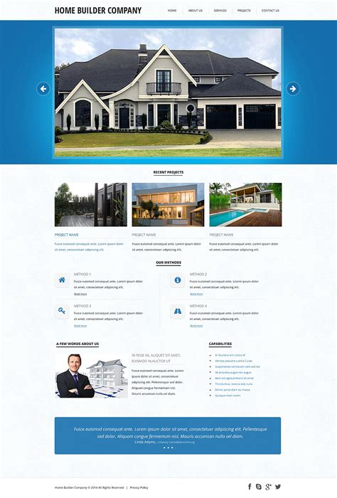 Construction Company Responsive Website Template 47802 Templates For Construction Companies