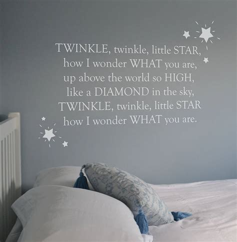 What Rhymes With Bedroom by Twinkle Twinkle Nursery Rhyme Wall Sticker By Leonora