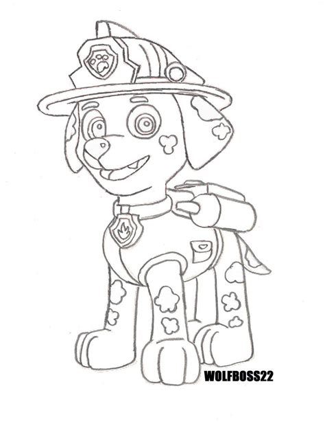 free coloring pages of paw patrol marshall paw patrol coloring pages marshall and firetruck