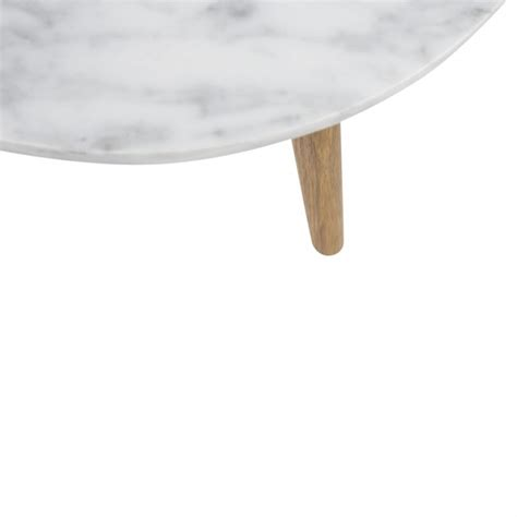 Table Basse Ronde Marbre by Table Basse Ronde Scandinave En Marbre Blanc Et Bois D