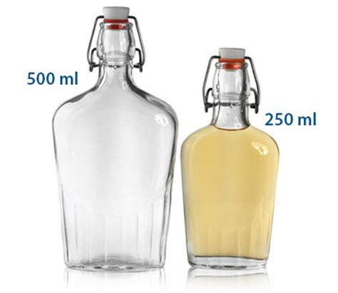 Swing Top Flask Glass Bottles