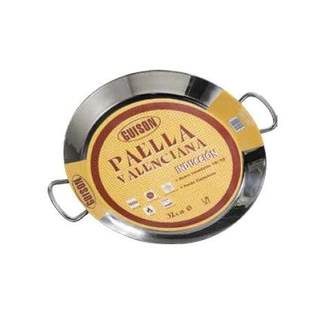 large induction paella pan 36cm stainless steel induction paella pan for 7 ppl paella induction