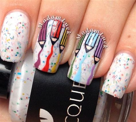 Nail Pencil1 17 best images about pencil nail on nail stiletto nail and back to school