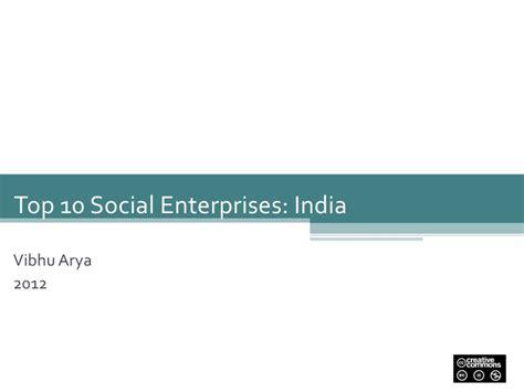 Top Social Entreprenureship Mba by India Top 10 Social Entrepreneurs