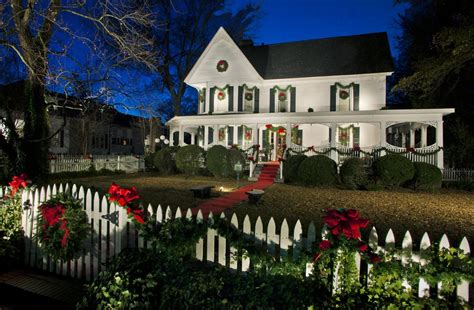 wrap around porch christmas decorations colonial home decor exterior traditional with turf lights