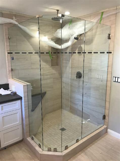 Frameless Shower Doors San Diego Custom 3 8 Inch Frameless Glass Shower Enclosure Patriot