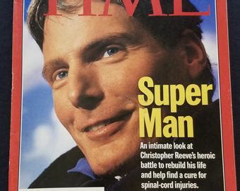 christopher reeve time magazine spinal cord injury etsy