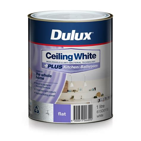 dulux bathroom paint price dulux white ceiling plus kitchen and bathroom paint 1l