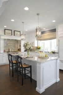 Kitchen Lantern Lighting Alpine White Granite Transitional Kitchen Sherwin