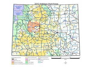 map of hunt wyoming antelope unit map world map 07