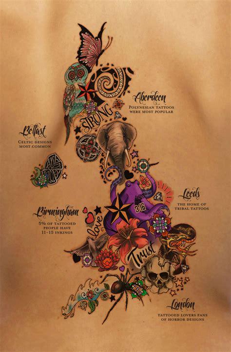 Amazing Tattoo Reveals Uk S Most Inked Cities Creative Bloq Popular Designs