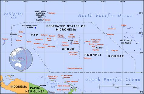 map of micronesia political map of micronesia micronesia