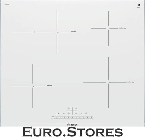 induction cooktop white glass bosch pif672fb1e induction hob ceramic glass white