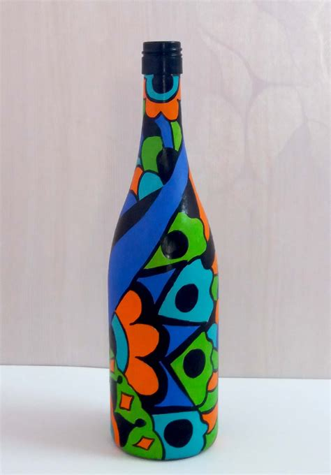 Colorful Bottle Glass buy painted glass bottle vase colorful design