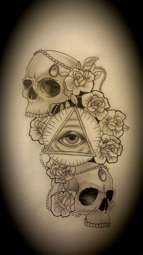 derrick rose 1988 tattoo skull eye and roses by kirstie1988 on deviantart
