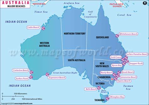australia sea map major beaches in australia australia beaches map