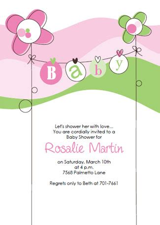 free templates for baby shower invitations girl free printable baby shower invitations template best