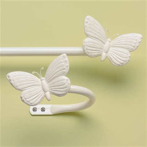 butterfly curtain rods kids antique white butterfly curtain rod holdbacks 28