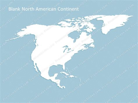 north america continent map editable map  north