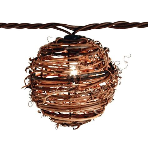 rattan string lights patio lights 10 light clear rattan string