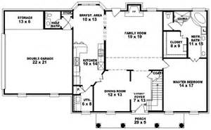 Colonial Style Floor Plans by Colonial Style House Plans Plan 6 1389