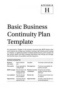 Small Business Continuity Plan Template Business Recovery Plan Template Business Plan Templat